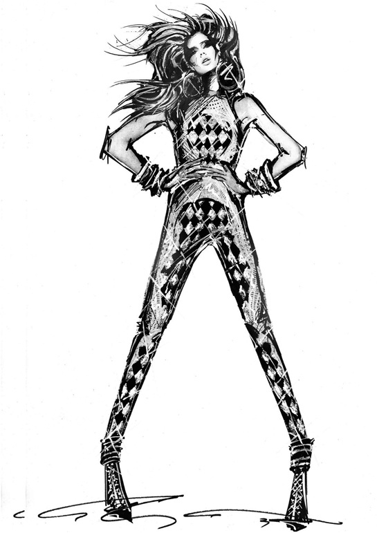 Illustration.Files: Balmain S/S 2013 Sketch by Olivier