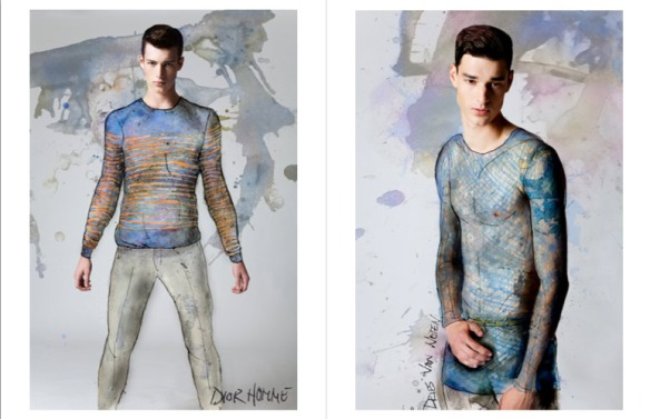 Benjamin-Edward-Bon-Bon-Magazine-Summer-Blues-Regen-Chen-Dior-Homme-Dries-Van-Noten-Models-Menswear-Illustration