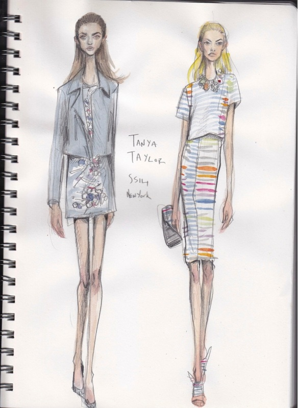 Illustration files new york fashion week runway sketches - Tanya zimmerman ...