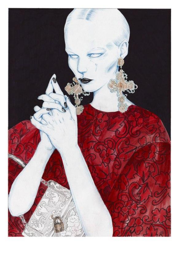 Artaksiniya-Dolce-and-Gabbana-Fall-2013