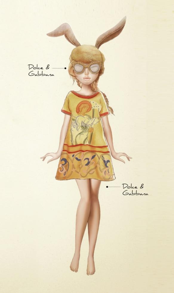 Karla-Cordova-Ready-To-Cut-Dolce-and-Gabbana-Fall-2013