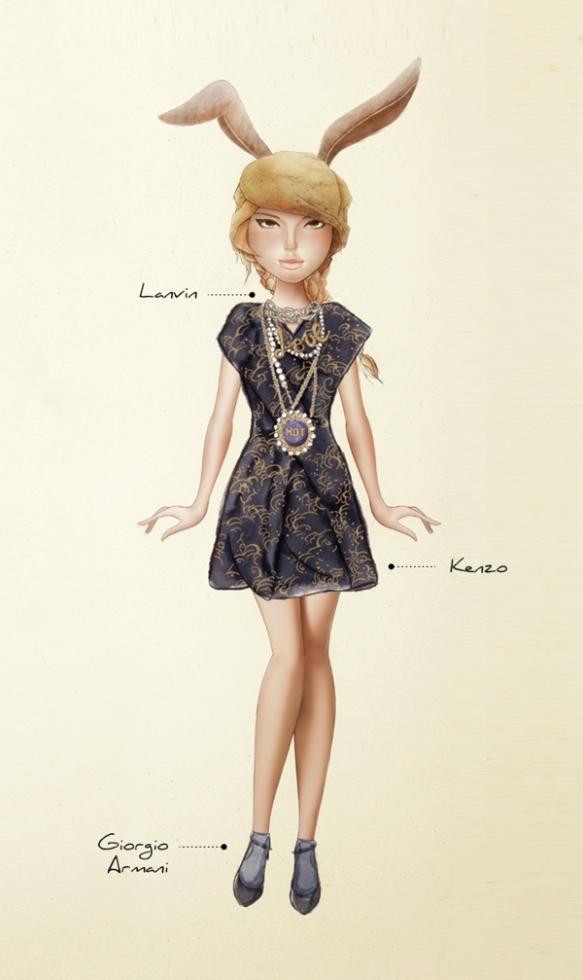 Karla-Cordova-Ready-To-Cut-Lanvin-Kenzo-Fall-2013