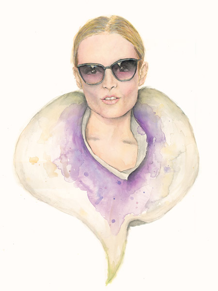 Benjamin-Edward-Hanne-Gaby-Odiele-Jason-Wu-Sunglasses-SS-Spring-Summer-2014-Illustration-Purple-Calla-Lily