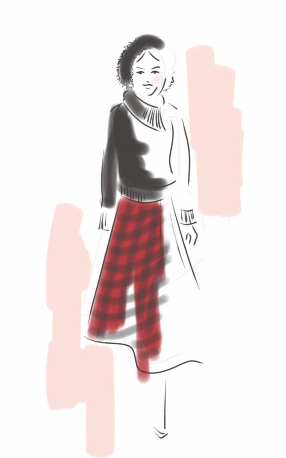 Lisa-Nishimura-Pink-Tartan-Fall-2014-1