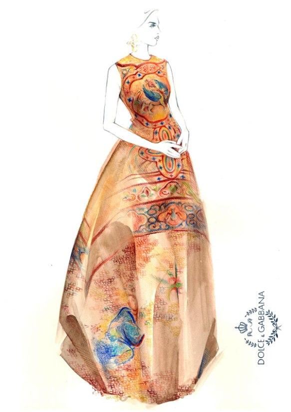 Yana-Protasova-Dolce-and-Gabbana-Fall-2013
