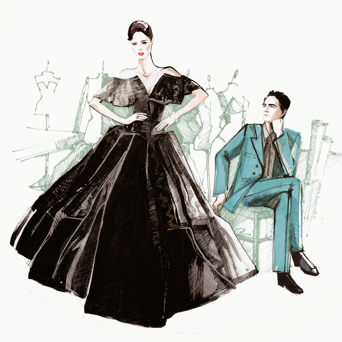Illustration Files Zac Posen Fashion Illustration By