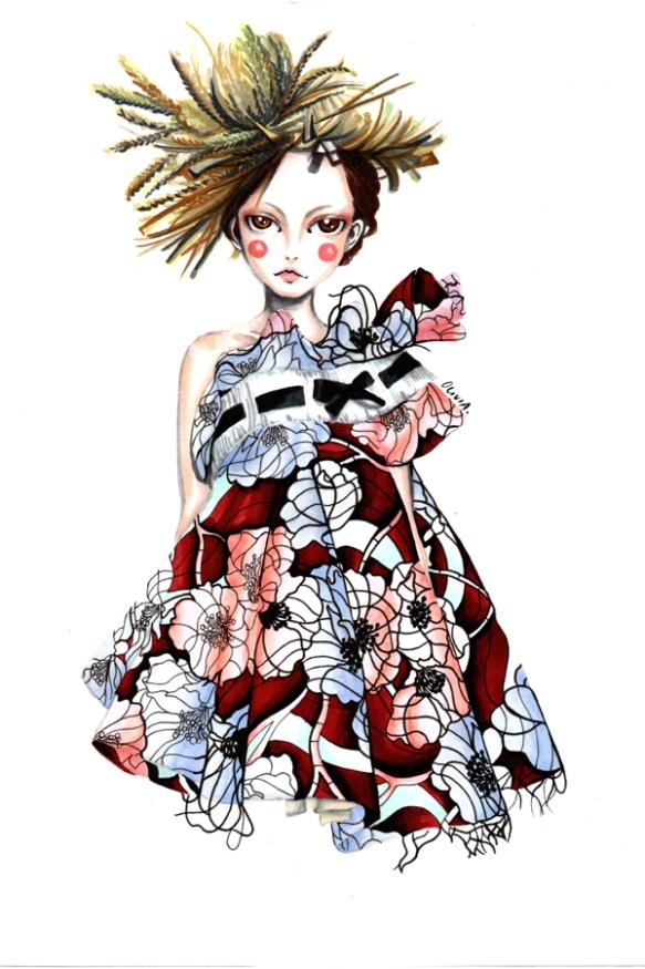 Olivia-Au-Viktor-and-Rolf-Haute-Couture-Spring-2015-1
