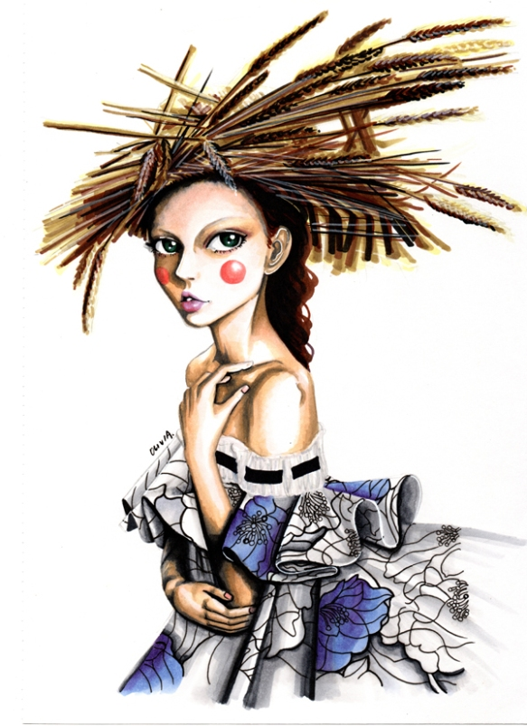 Olivia-Au-Viktor-and-Rolf-Haute-Couture-Spring-2015-2