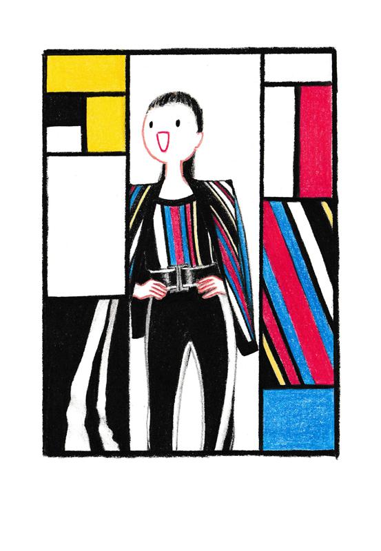 Hey-Harvey-Balmain-Piet-Mondrian-Spring-2015