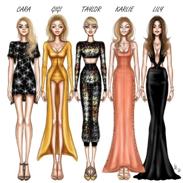 2017 Oscars | red carpet | fashion illustration | Brittany ... |Red Carpet Dresses Drawings